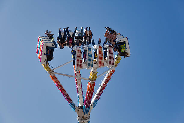Crazy Fahren Sie an der fair – Foto