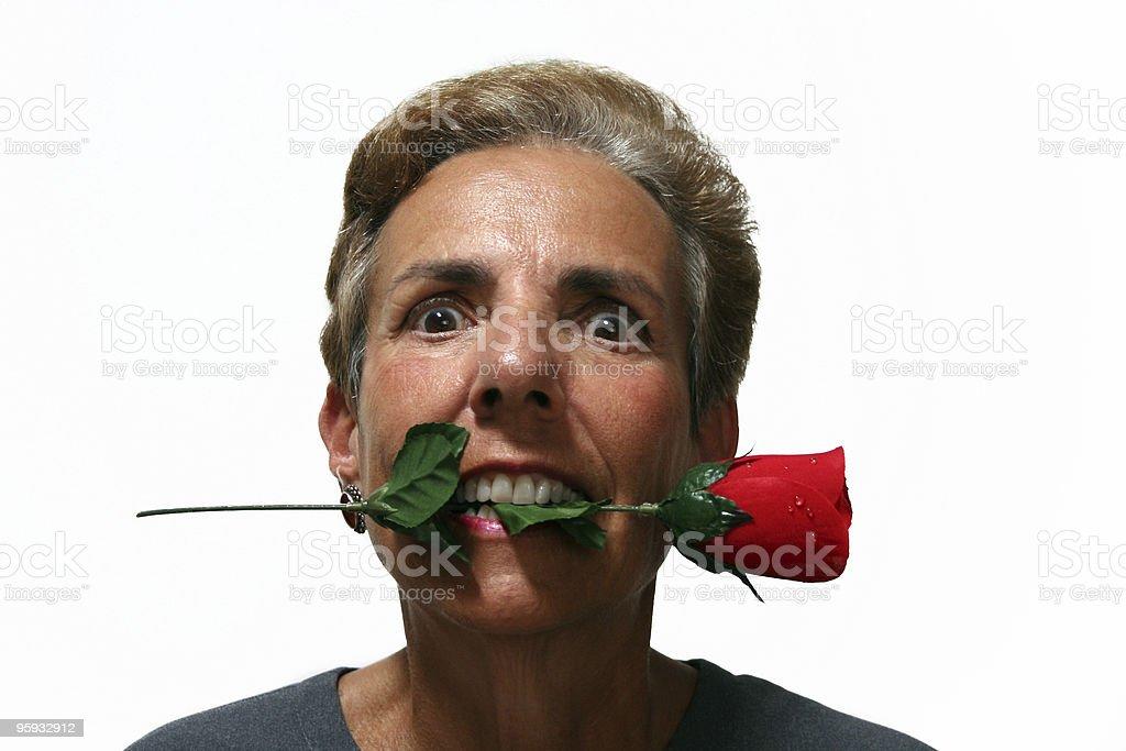 Crazy Rose Lady stock photo