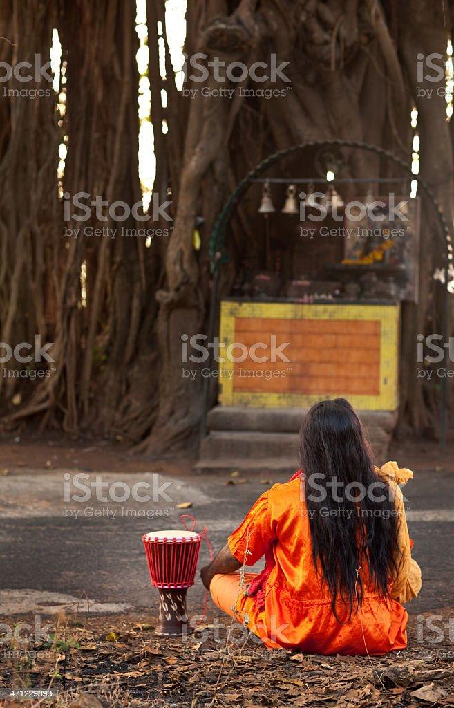 Crazy Sadhu in India stock photo