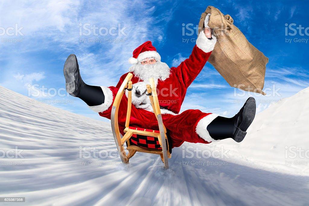 Crazy santa claus sleigh funny crazy christmas gift delivery crazy santa claus sleigh funny crazy christmas gift delivery negle Image collections