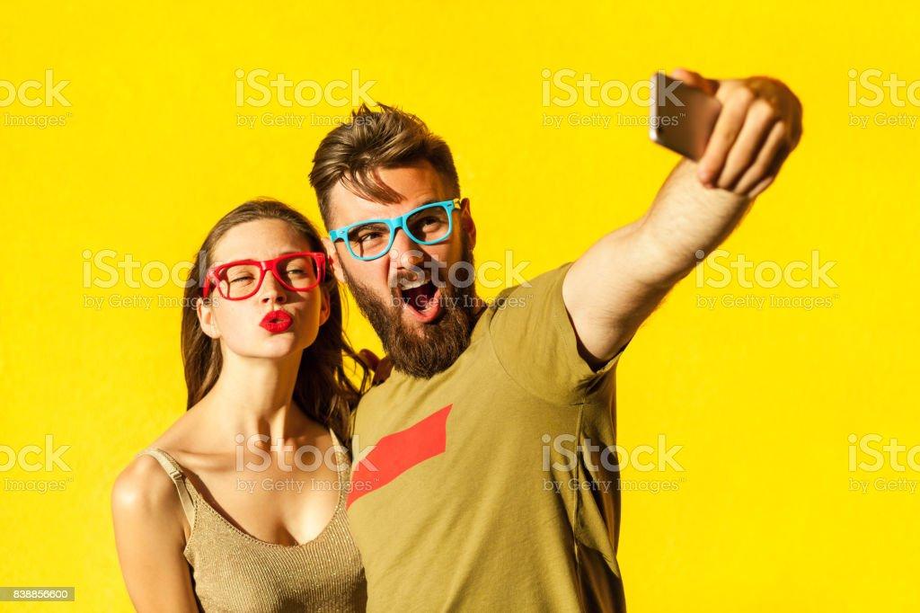 Crazy selfie stock photo