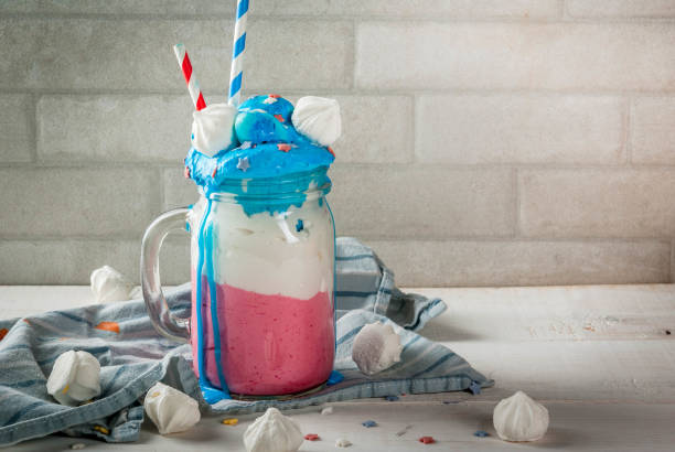 Crazy shake for July, 4 stock photo