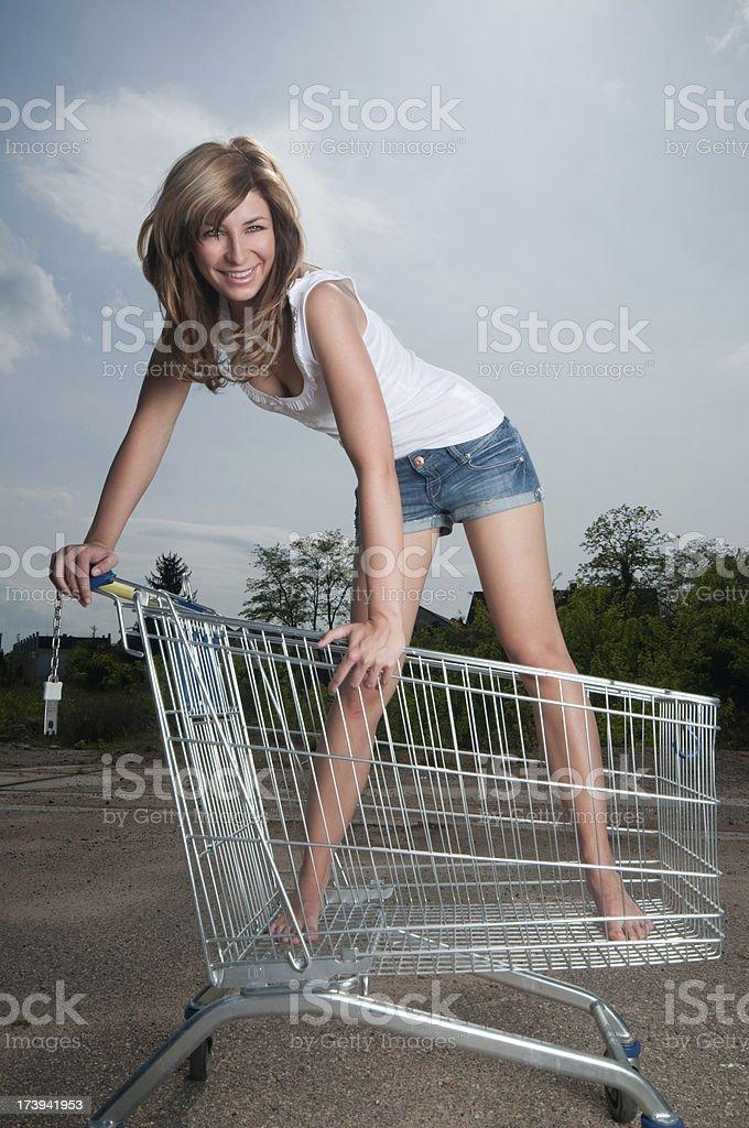 Crazy Shopping Cart royalty-free stock photo