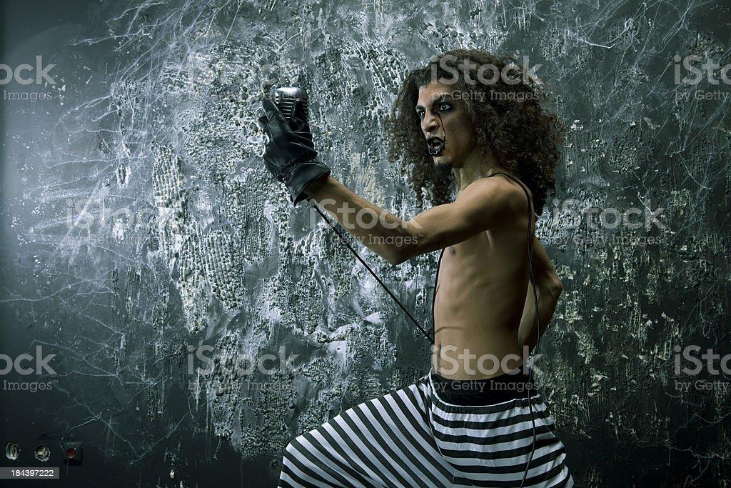 crazy singer royalty-free stock photo