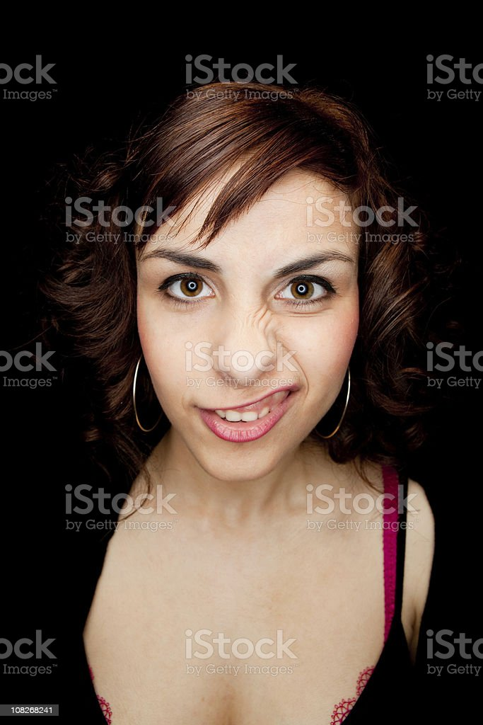 Crazy smile royalty-free stock photo