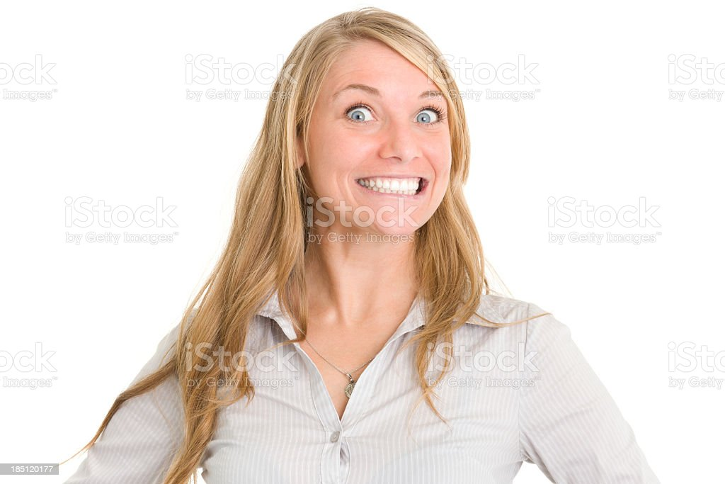 Crazy Smiling Woman stock photo