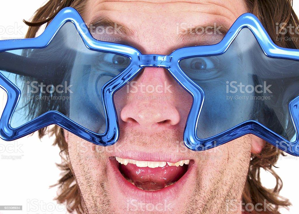 crazy star glasses stock photo