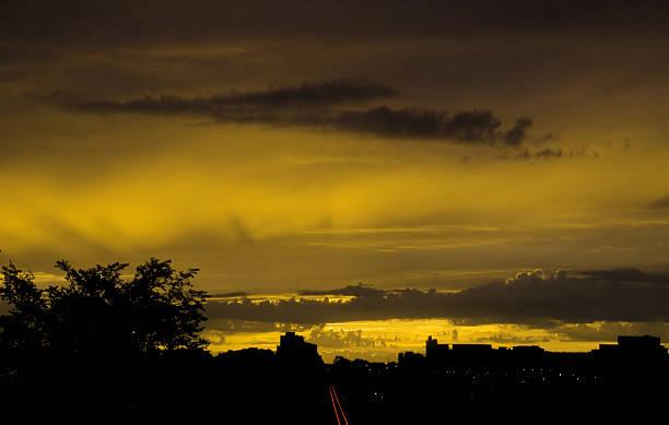 Crazy sunset stock photo