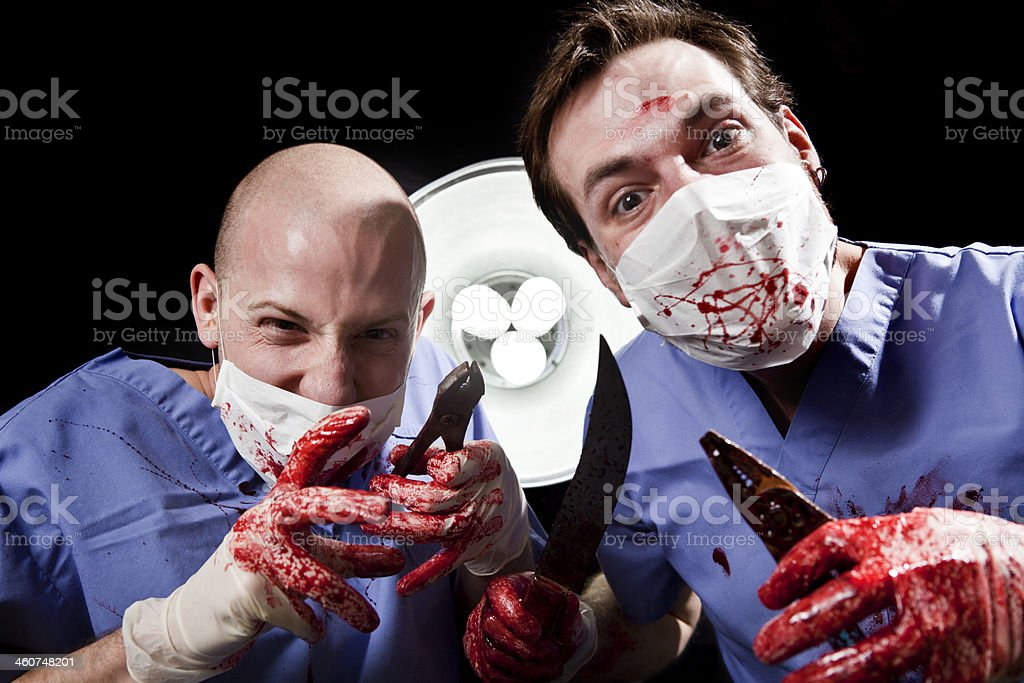 Crazy Surgeons royalty-free stock photo