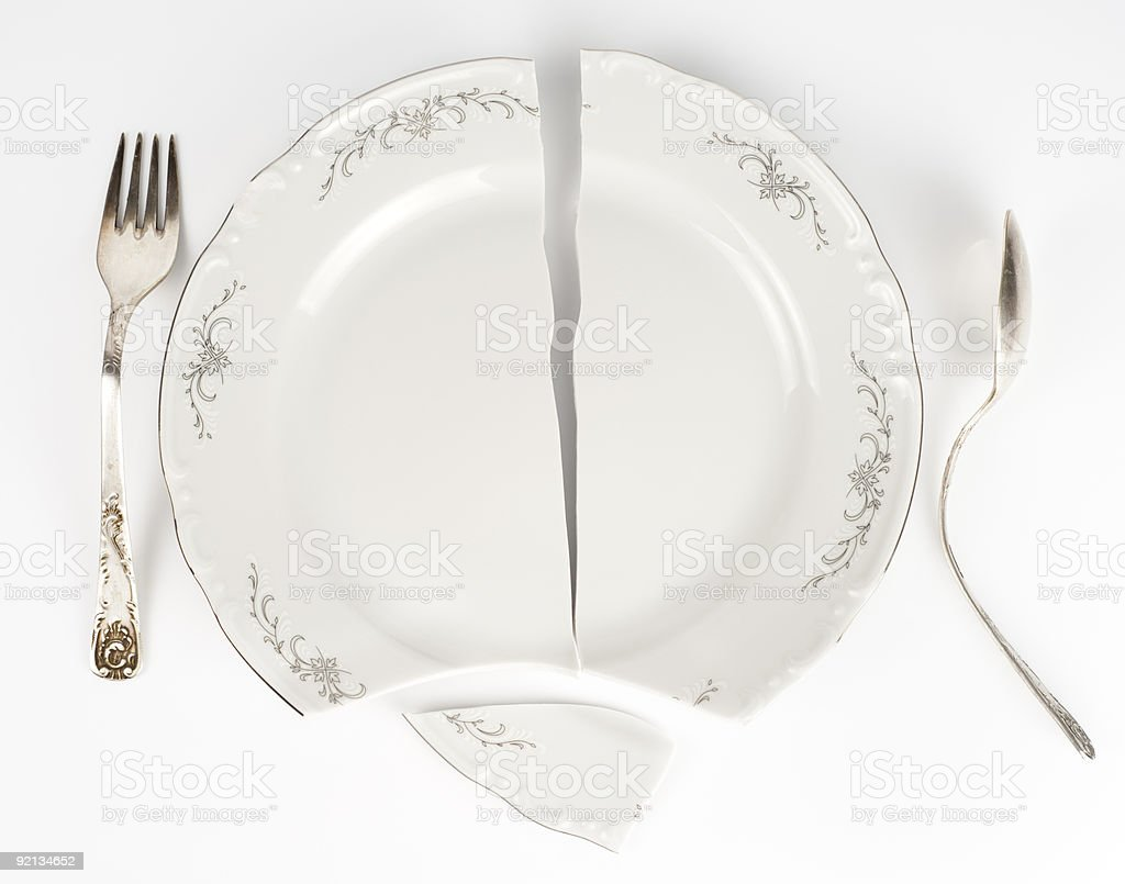 Crazy table arrangement stock photo