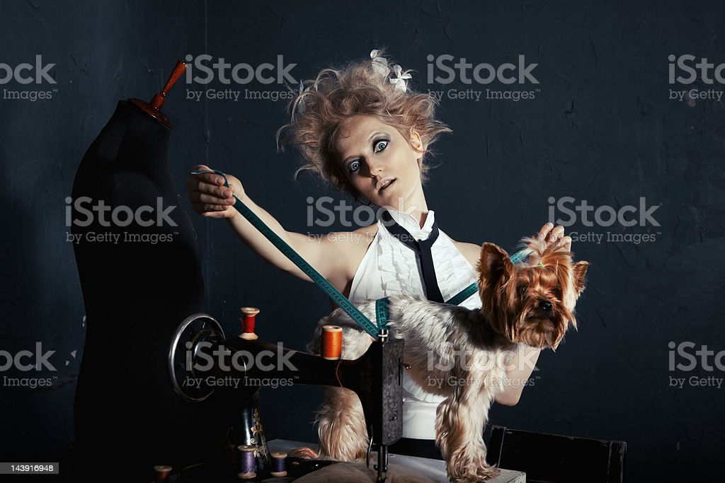 Crazy tailor royalty-free stock photo