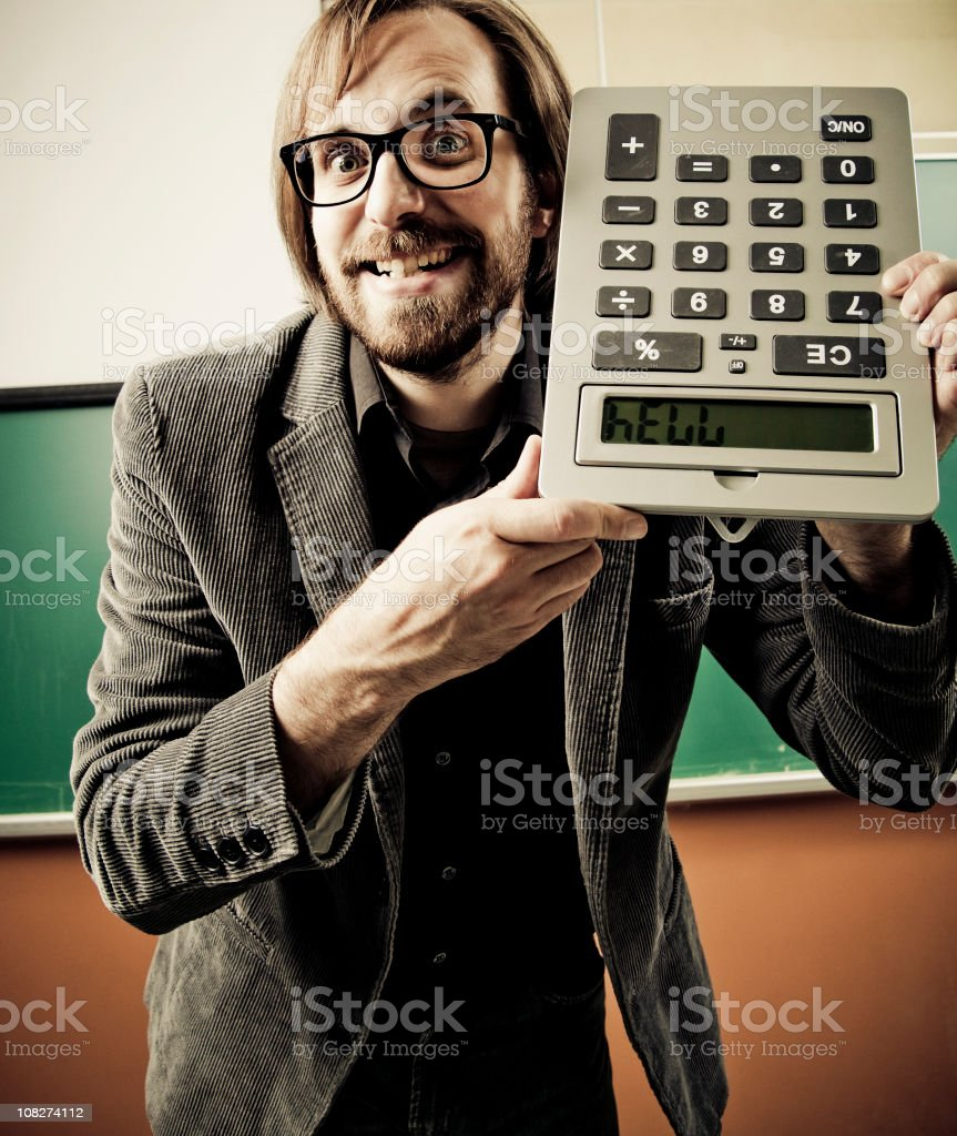 Crazy teacher royalty-free stock photo