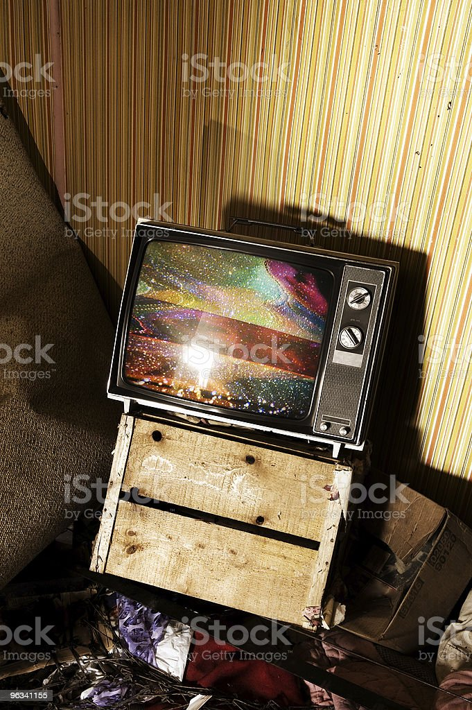 Crazy Television royalty-free stock photo