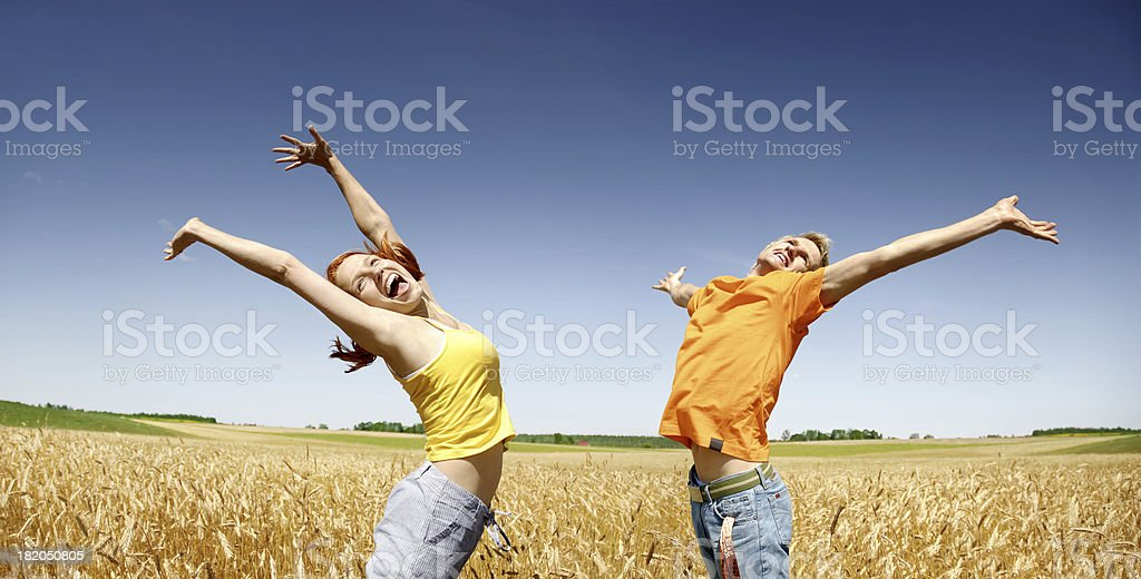 Crazy together royalty-free stock photo