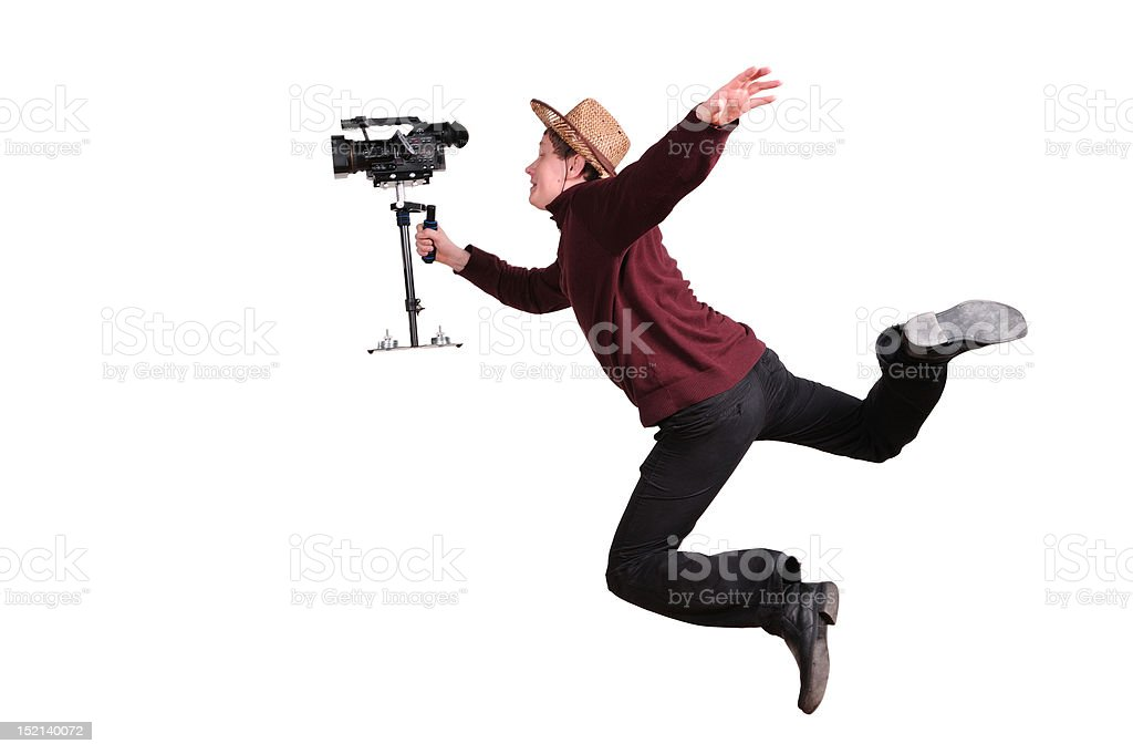 crazy videographer royalty-free stock photo