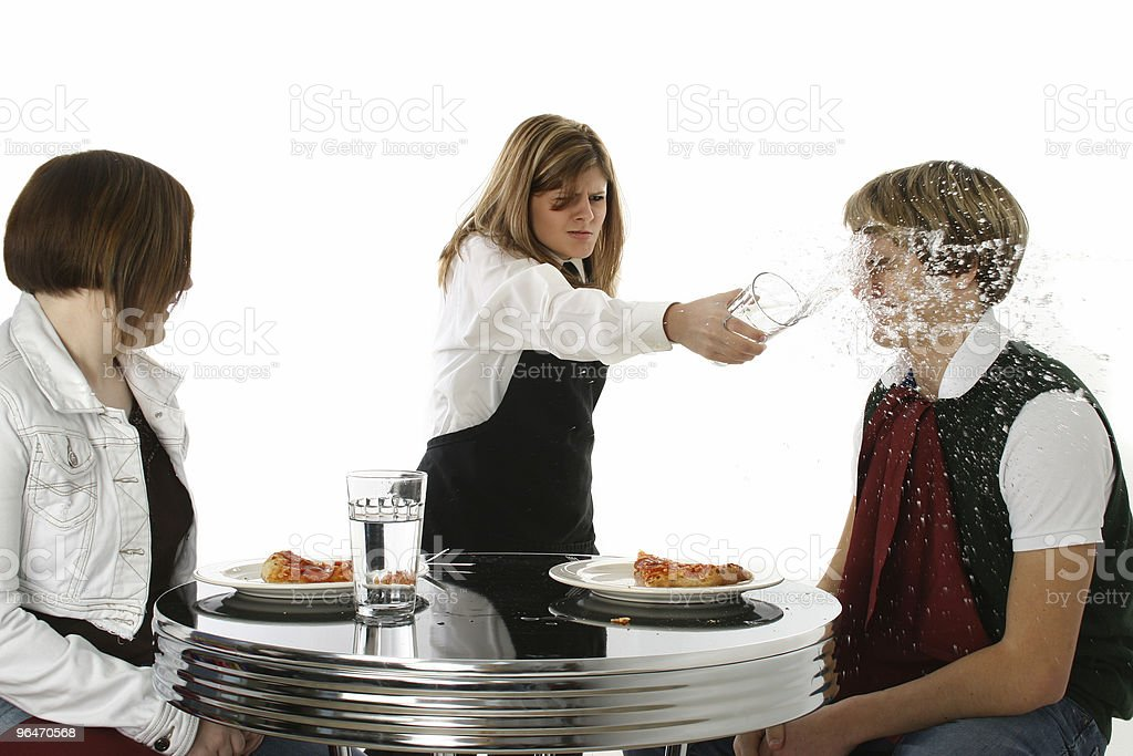 Crazy Waitress royalty-free stock photo