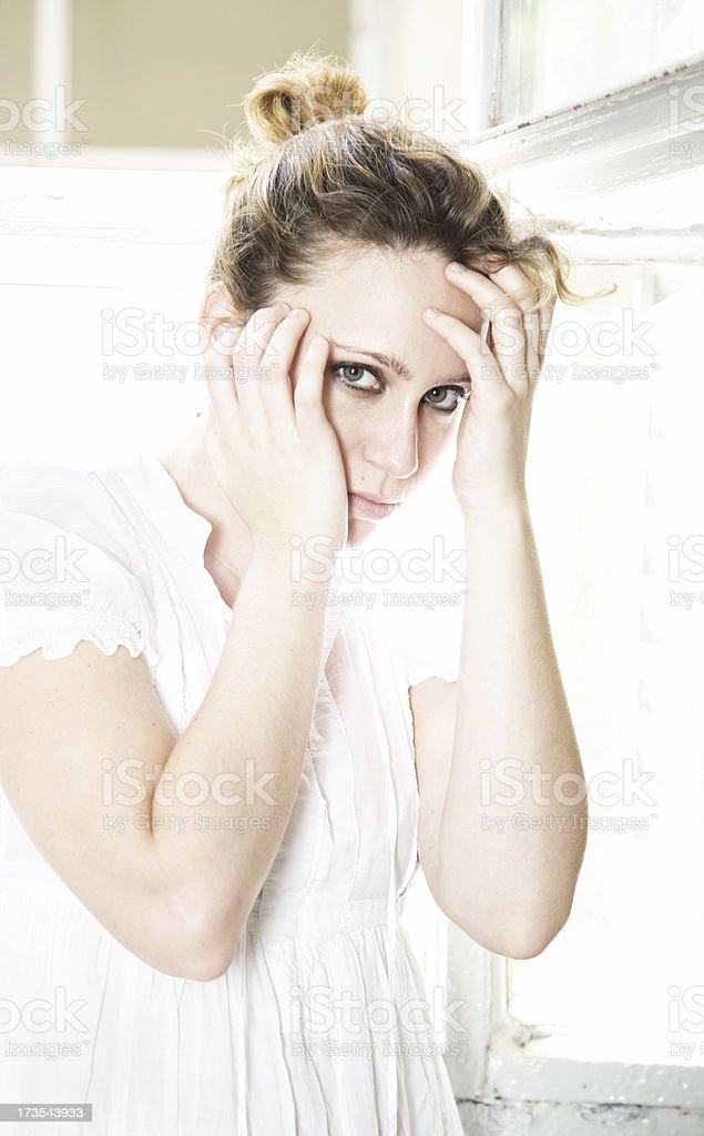 Crazy Woman in Psychiatric Hospital royalty-free stock photo