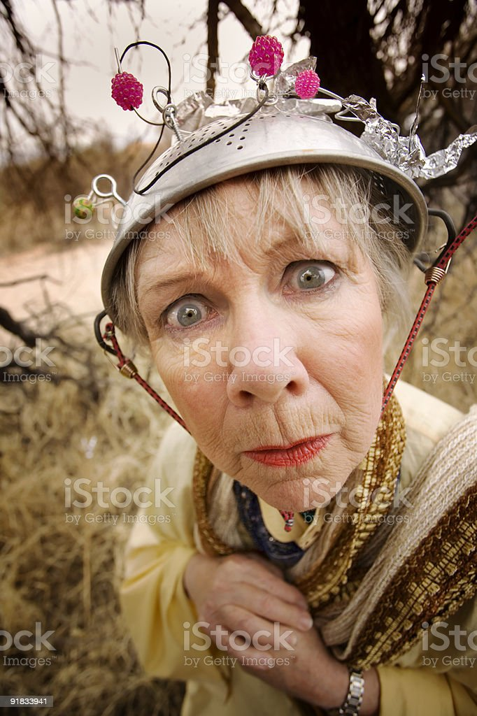 Crazy Woman royalty-free stock photo