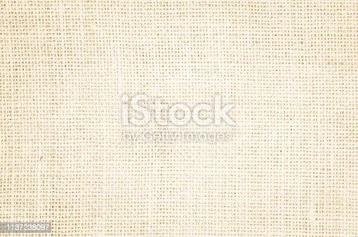 1044099896 istock photo Cream abstract Hessian or sackcloth fabric or hemp sack texture background. 1137238097