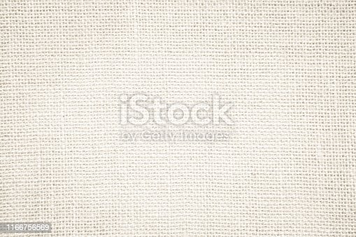 Cream abstract sackcloth towel mock up template fabric on with background. Wallpaper of artistic wale canvas. Blanket or Curtain of pattern and copy space for text decoration. Interior design wall.