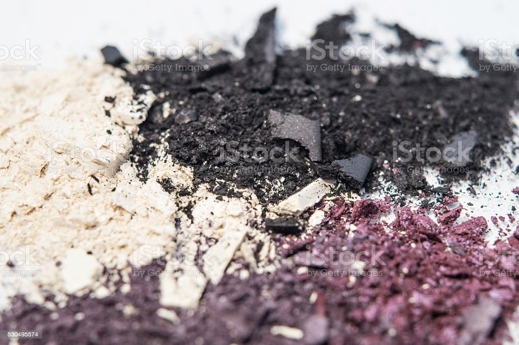 cream and black makeup pigment eyeshadow royalty-free stock photo