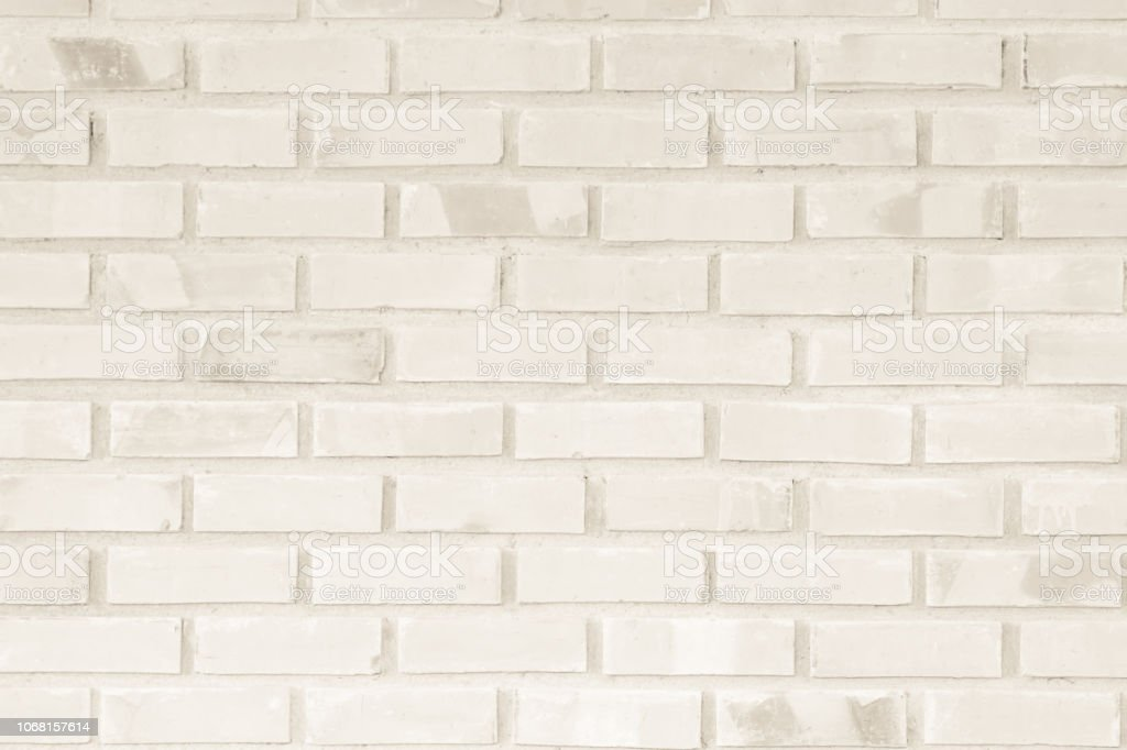 Cream And Brown Brick Wall Texture Background Brickwork Or