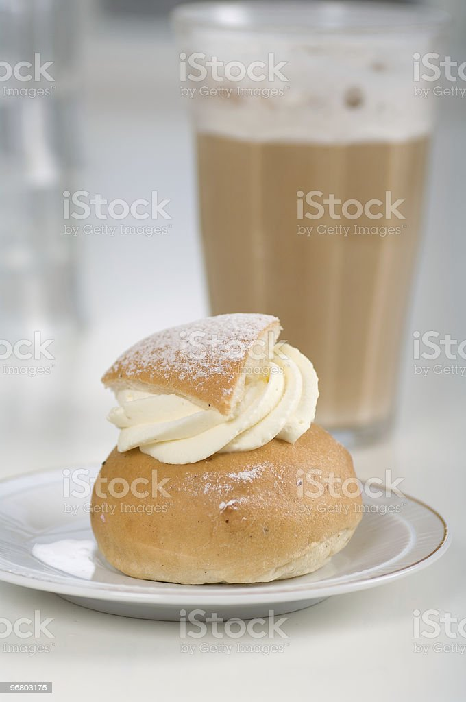 cream bun royalty-free stock photo
