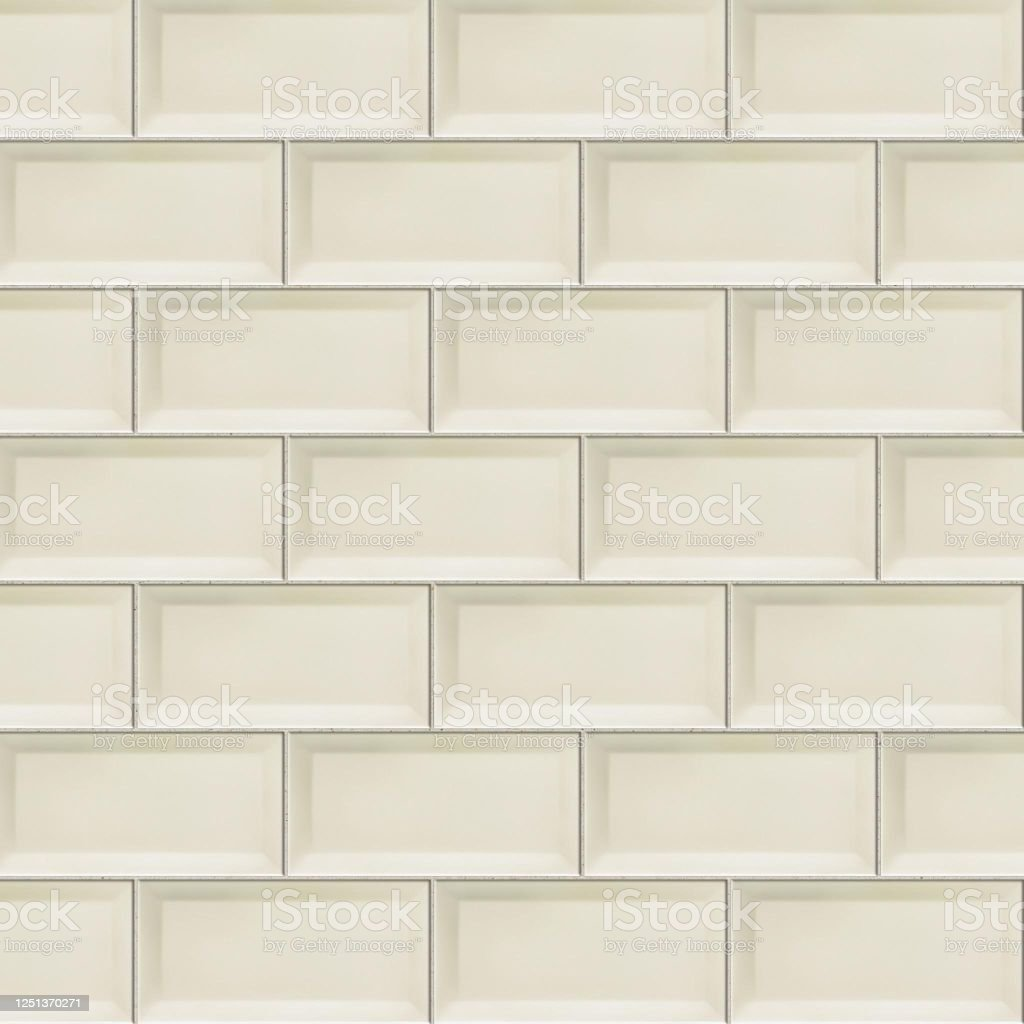 Cream Ceramic Brick Wall Tile For Kitchens Bathrooms With Glazed Texture Seamless Stock Photo Download Image Now Istock