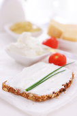 Cream cheese and bread - Breakfast table - XXXL image