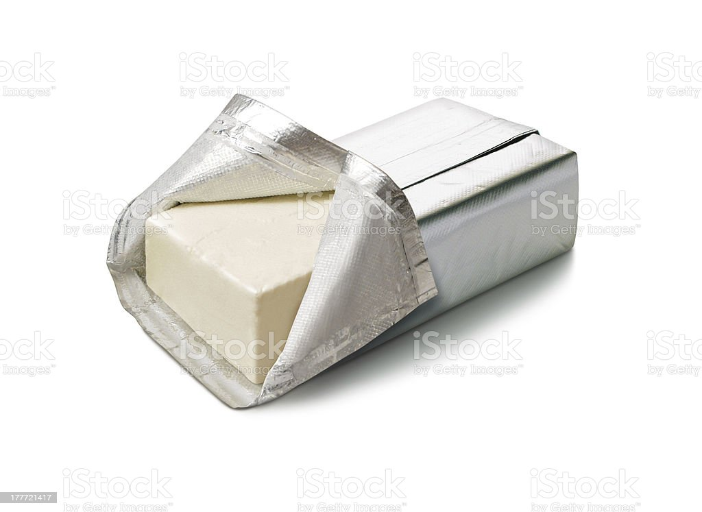 Cream Cheese isolated stock photo