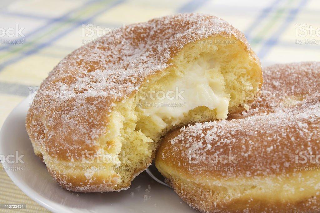 Cream Cheese Paczki stock photo