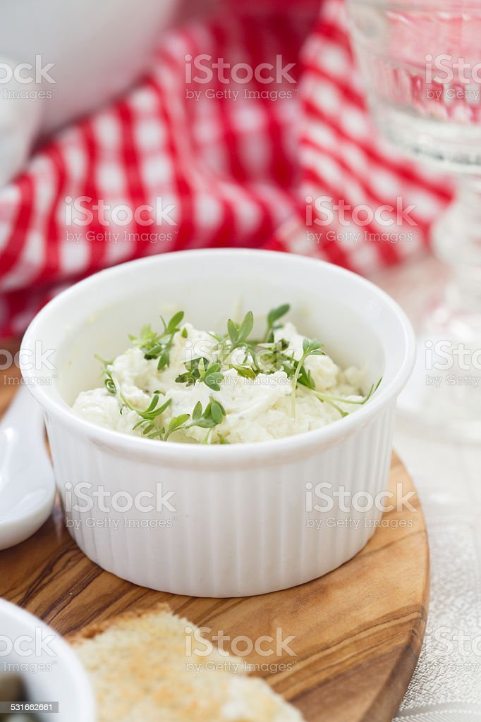 Cream cheese stock photo