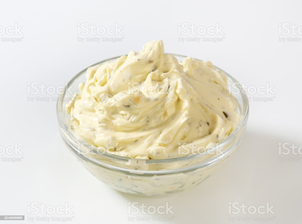 Cream cheese spread stock photo