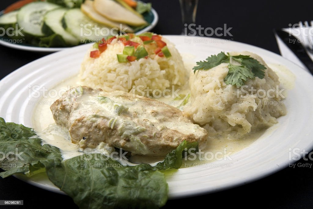 Cream Chicken Plate royalty-free stock photo