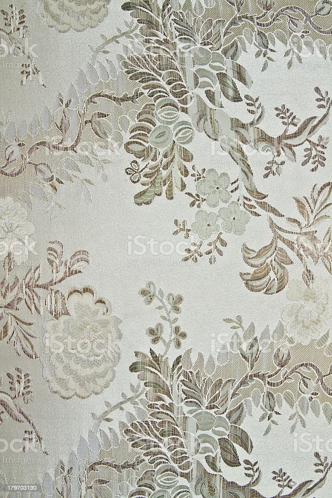 Cream color linen texture with flower figures royalty-free stock photo