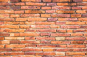 Orange colors and white brick wall art concrete or stone texture background in wallpaper limestone abstract paint to flooring and homework/Brickwork or stonework clean grid uneven interior rock old.