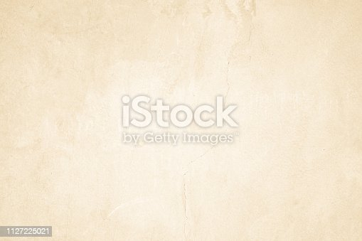 istock Cream concreted wall for interiors or outdoor exposed surface polished concrete. Cement have sand and stone of tone vintage, natural patterns old antique, design art work floor texture background. 1127225021