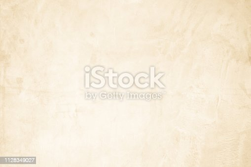 istock Cream concreted wall for interiors or outdoor exposed surface polished concrete. Cement have sand and stone of tone vintage, natural patterns old antique, design art work floor texture background. 1128349027