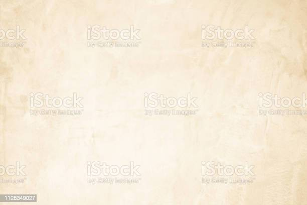 Photo of Cream concreted wall for interiors or outdoor exposed surface polished concrete. Cement have sand and stone of tone vintage, natural patterns old antique, design art work floor texture background.