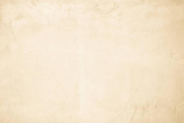 인테리어 또는 야외 노출 표면 광택 콘크리트 크림 콘크리트 벽. 시멘트는 모래와 돌 의 톤 빈티지, 내츄럴 패턴 오래 된 감촉 배경. - 빛바랜 뉴스 사진 이미지
