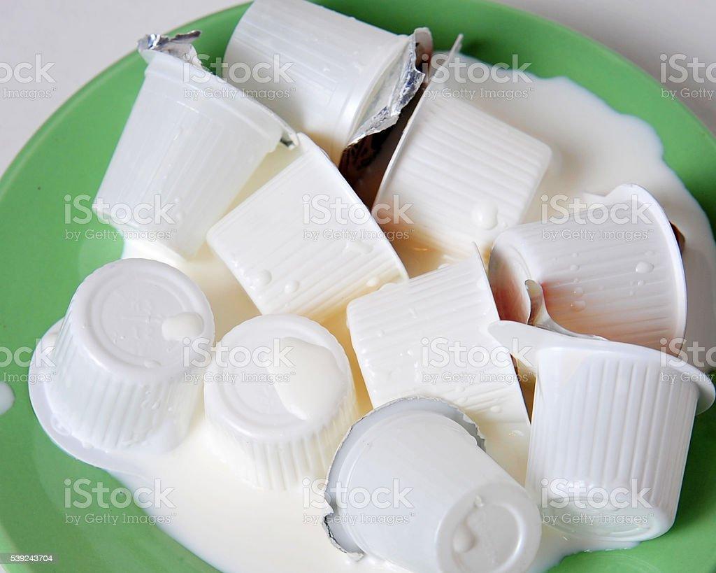 Cream cups royalty-free stock photo