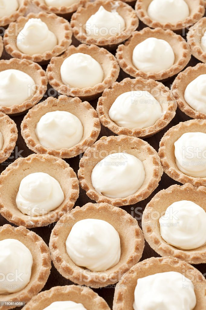 Cream filled tarts royalty-free stock photo
