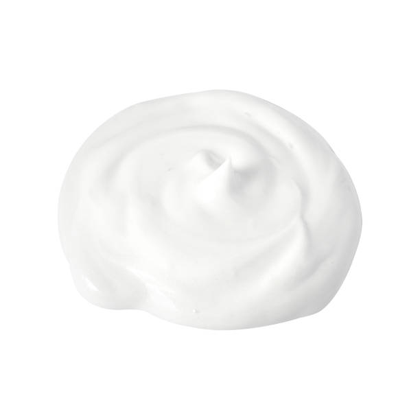cream isolated on white - shaving cream stock pictures, royalty-free photos & images