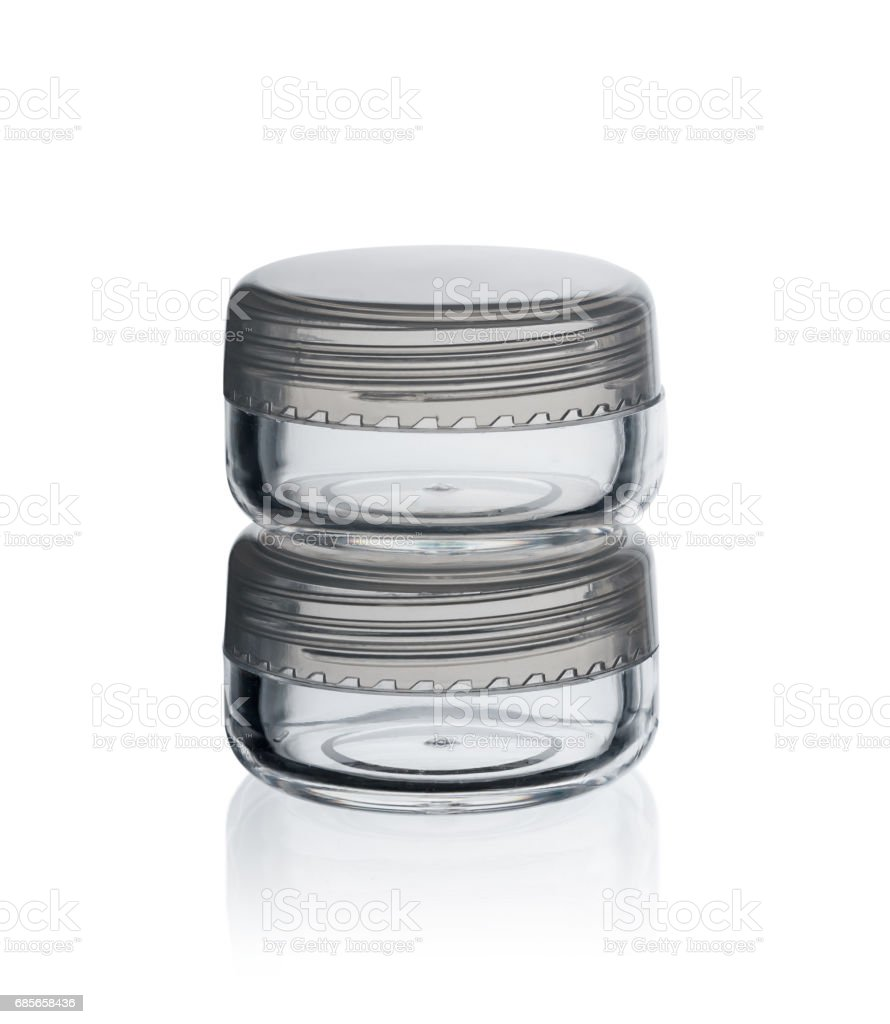 Cream jar (with clipping path) isolated royalty-free 스톡 사진