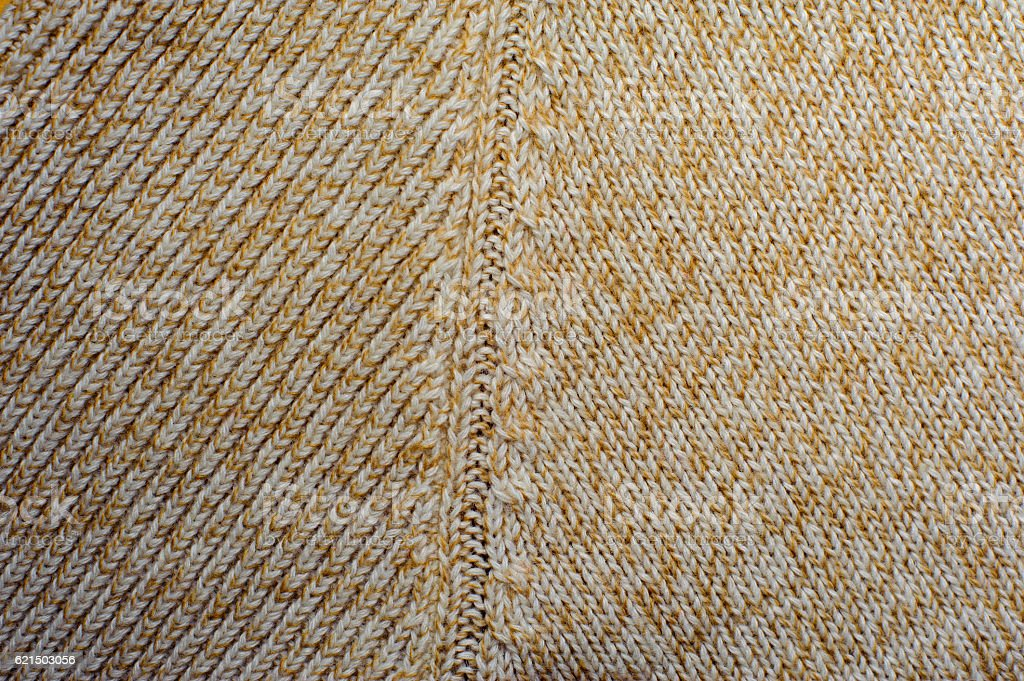 Cream knitted woolen fabric texture Lizenzfreies stock-foto