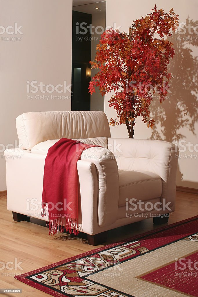Cream leather furniture royalty-free stock photo