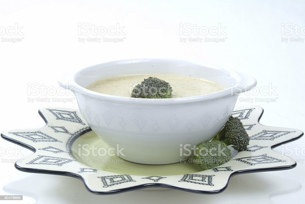Cream Of Broccoli Soup royalty-free stock photo