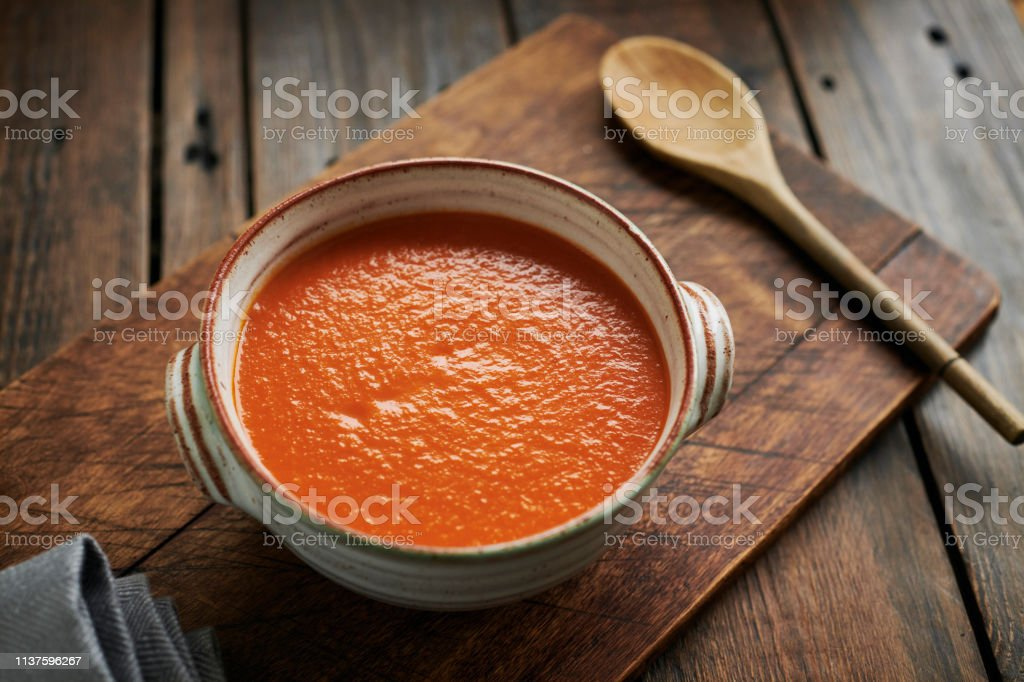 Cream of Tomato Soup. stock photo