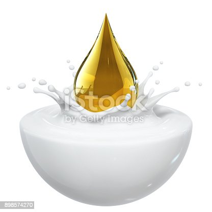 155146839 istock photo Cream Oil Splash 898574270