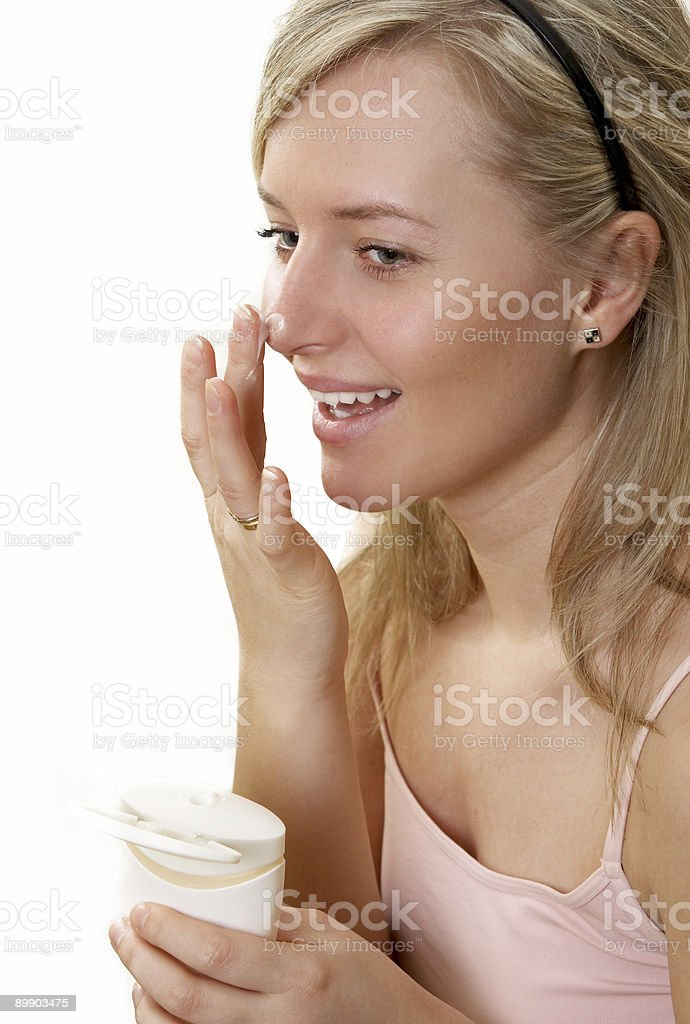 cream on face royalty-free stock photo